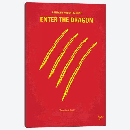 Enter The Dragon Minimal Movie Poster Canvas Print #CKG41} by Chungkong Canvas Print