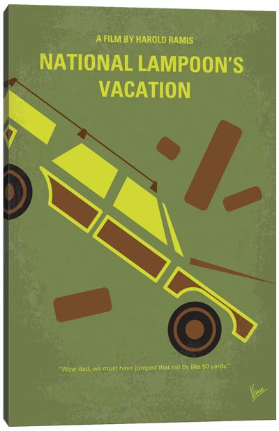 National Lampoon's Vacation Minimal Movie Poster Canvas Art Print