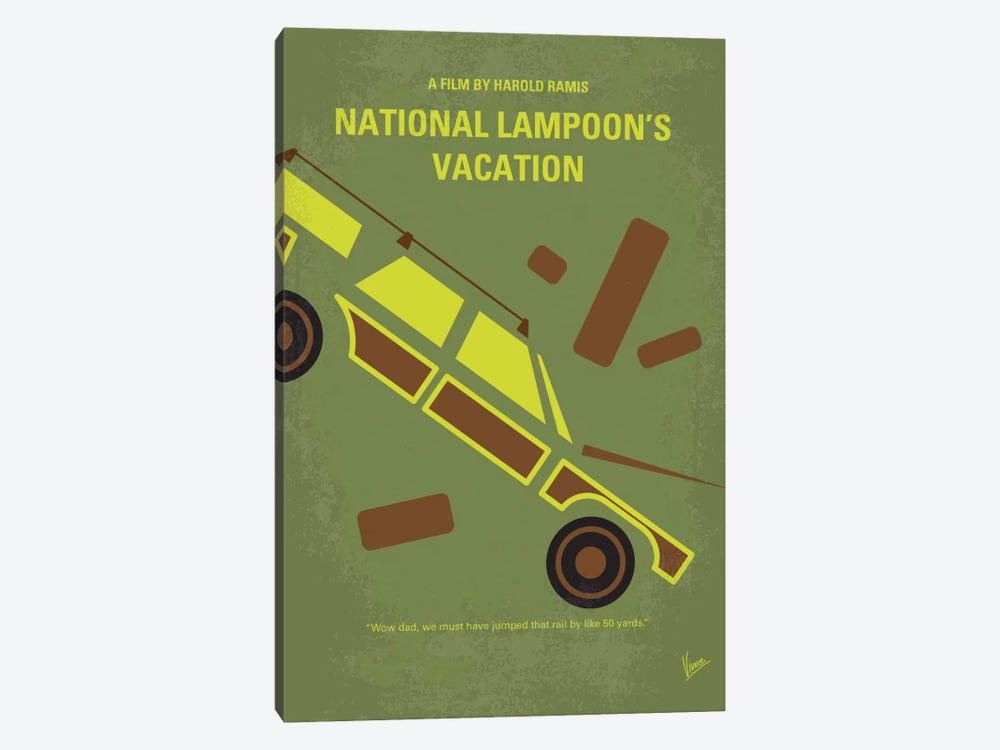 National Lampoon's Vacation Minimal Movie Poster by Chungkong 1-piece Canvas Artwork