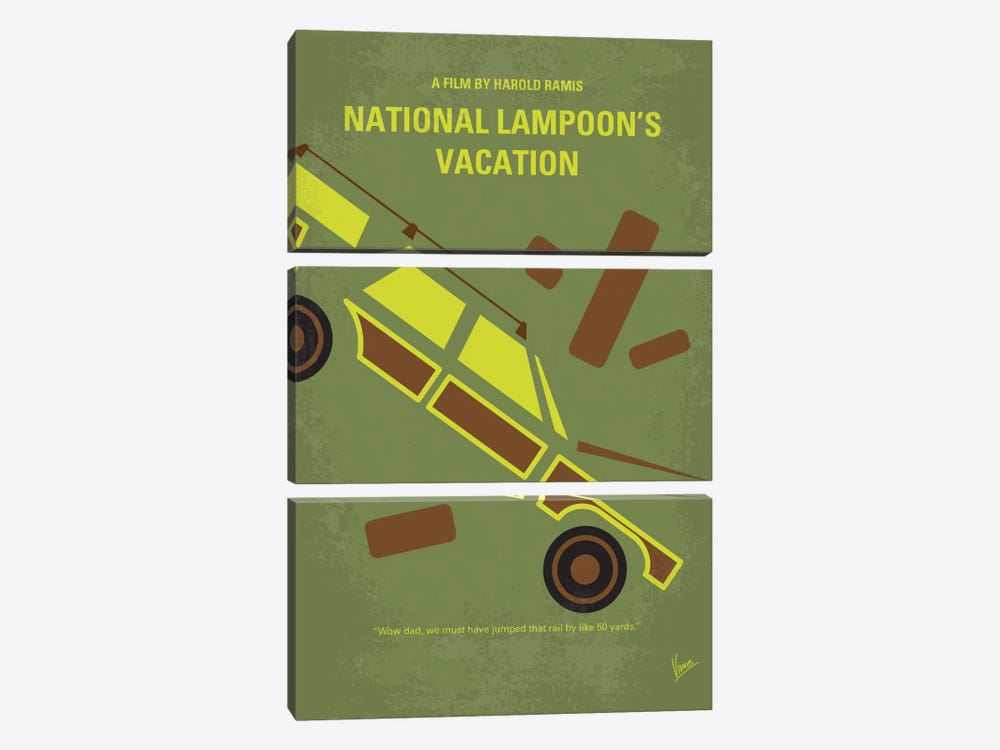 National Lampoon's Vacation Minimal Movie Poster by Chungkong 3-piece Canvas Wall Art