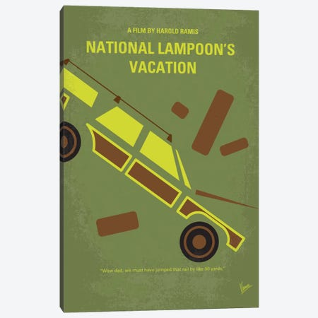 National Lampoon's Vacation Minimal Movie Poster Canvas Print #CKG420} by Chungkong Canvas Print
