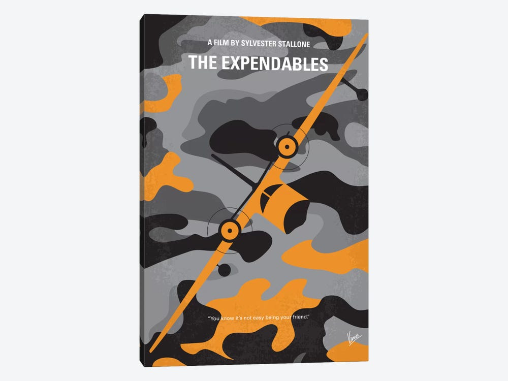 The Expendables Minimal Movie Poster by Chungkong 1-piece Canvas Art Print