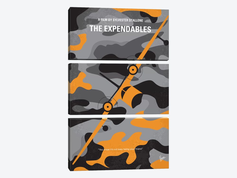The Expendables Minimal Movie Poster by Chungkong 3-piece Canvas Art Print