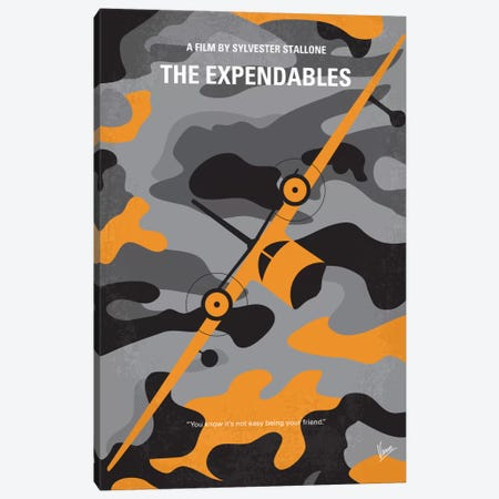 The Expendables Minimal Movie Poster Canvas Print #CKG421} by Chungkong Canvas Art Print