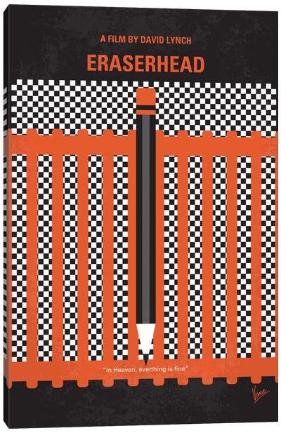Eraserhead Minimal Movie Poster Canvas Art Print