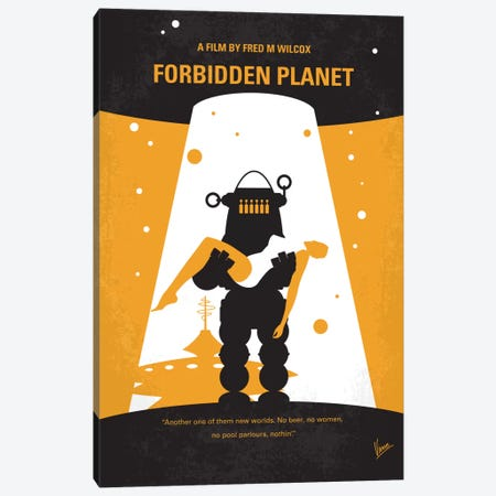 Forbidden Planet Minimal Movie Poster Canvas Print #CKG423} by Chungkong Canvas Art Print