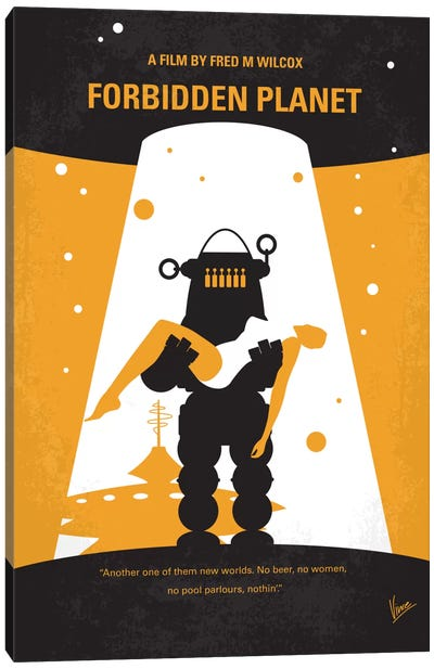 Forbidden Planet Minimal Movie Poster Canvas Art Print