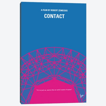 Contact Minimal Movie Poster Canvas Print #CKG424} by Chungkong Canvas Art
