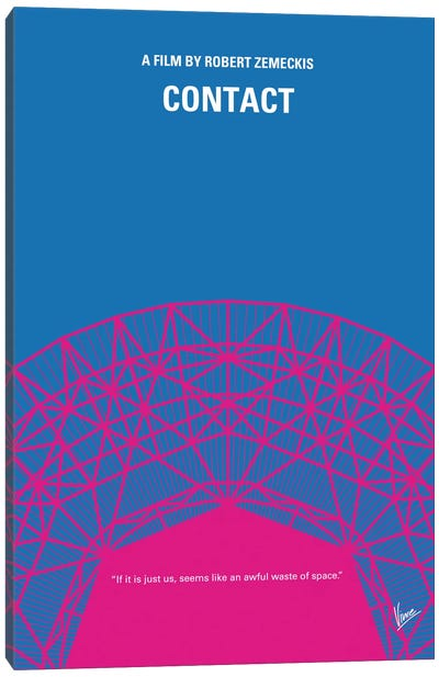Contact Minimal Movie Poster Canvas Print #CKG424