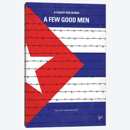 A Few Good Men Minimal Movie Poster Canvas Print #CKG425} by Chungkong Canvas Art