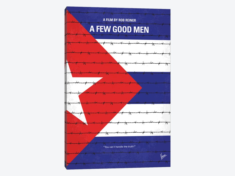 A Few Good Men Minimal Movie Poster by Chungkong 1-piece Canvas Art Print
