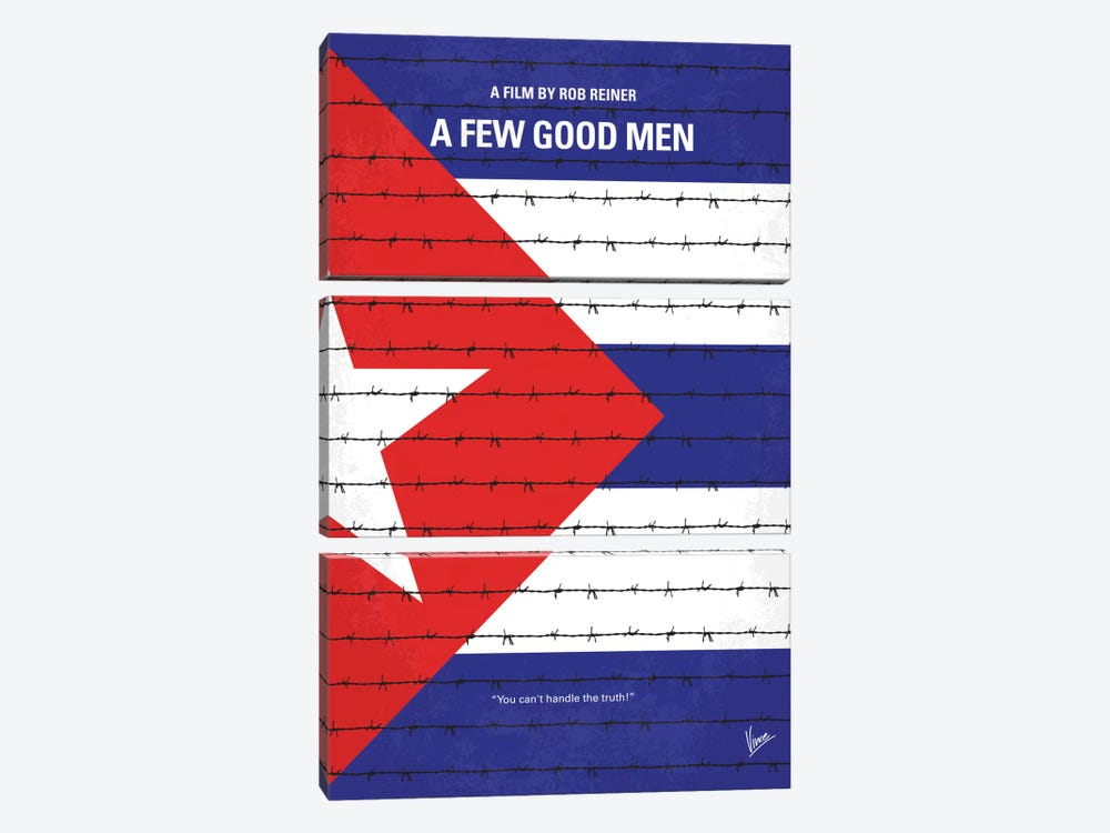 A Few Good Men Minimal Movie Poster by Chungkong 3-piece Canvas Art Print