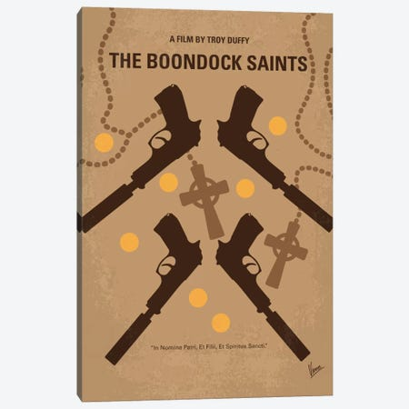 The Boondock Saints Minimal Movie Poster Canvas Print #CKG427} by Chungkong Canvas Art