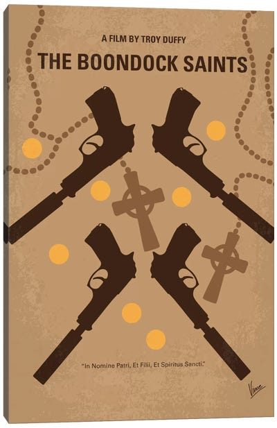 The Boondock Saints Minimal Movie Poster Canvas Art Print