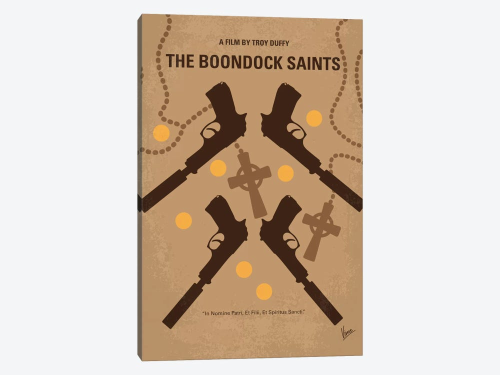 The Boondock Saints Minimal Movie Poster by Chungkong 1-piece Canvas Art Print