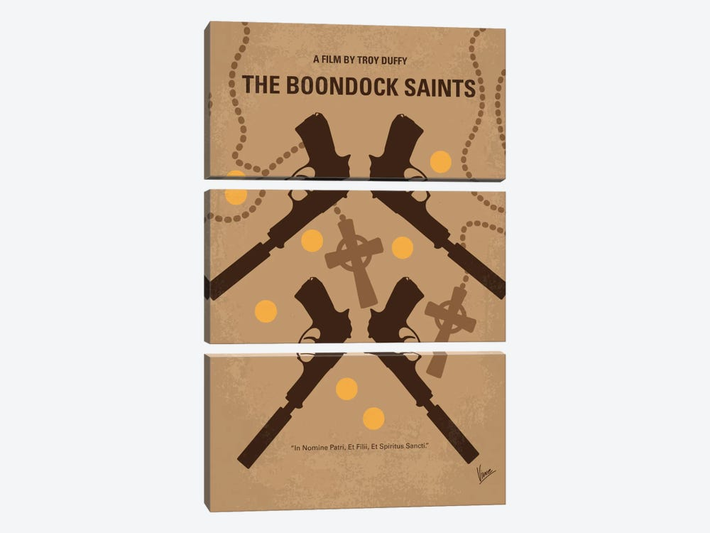 The Boondock Saints Minimal Movie Poster by Chungkong 3-piece Canvas Print
