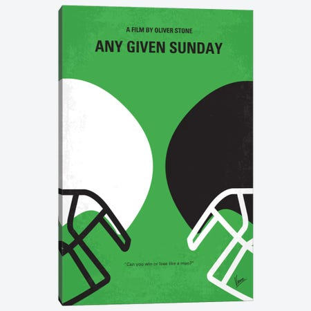 Any Given Sunday Minimal Movie Poster Canvas Print #CKG428} by Chungkong Canvas Art Print