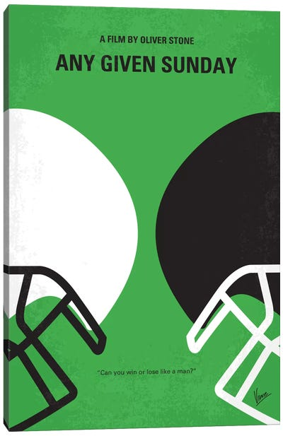 Any Given Sunday Minimal Movie Poster Canvas Art Print