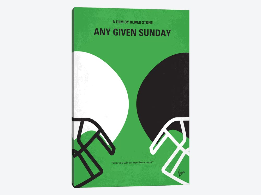 Any Given Sunday Minimal Movie Poster by Chungkong 1-piece Canvas Wall Art