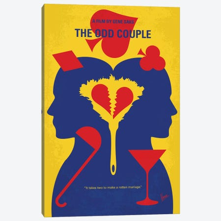 The Odd Couple Minimal Movie Poster Canvas Print #CKG429} by Chungkong Canvas Art Print