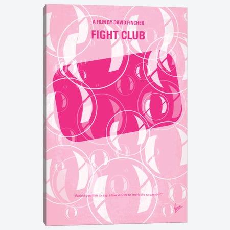Fight Club Minimal Movie Poster Canvas Print #CKG42} by Chungkong Art Print