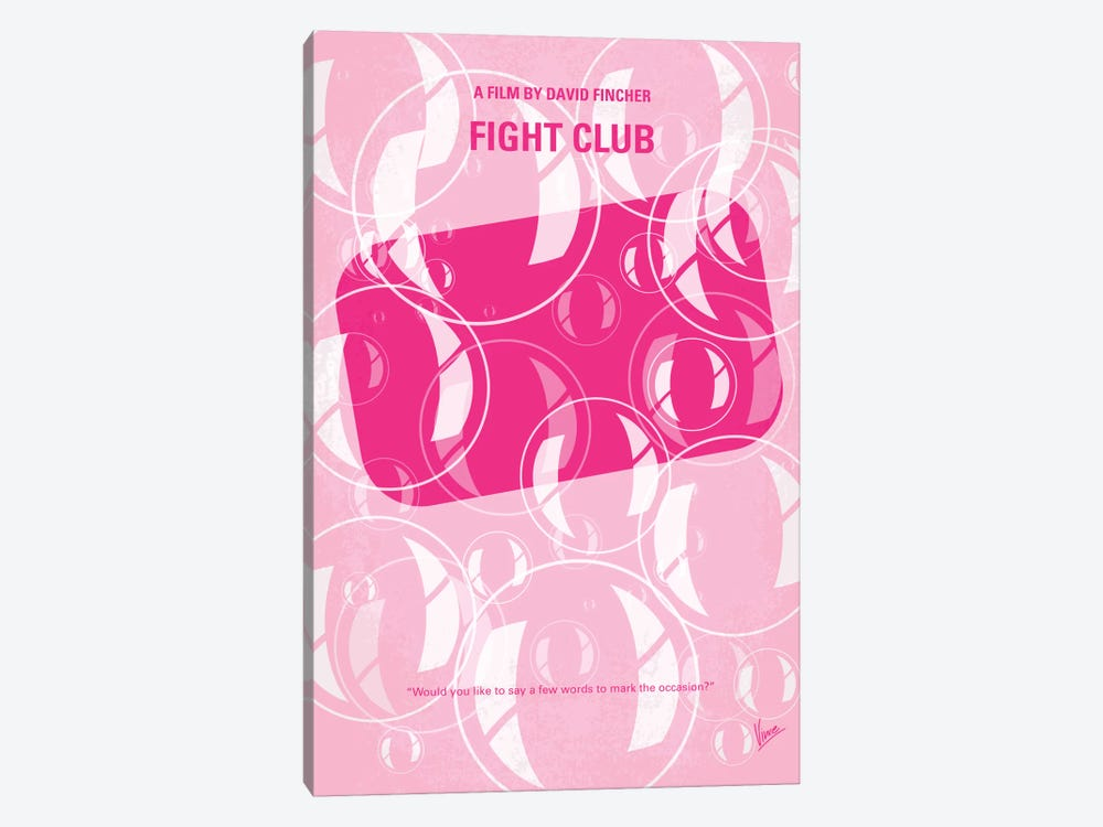 Fight Club Minimal Movie Poster by Chungkong 1-piece Canvas Art Print