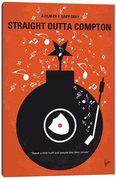 Straight Outta Compton Minimal Movie Poster Canvas Print #CKG430