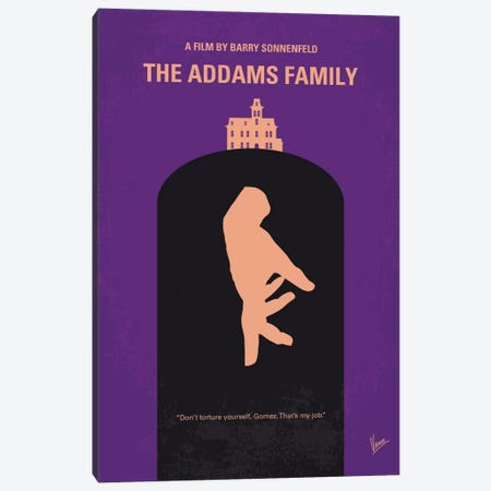 The Addams Family Minimal Movie Poster Canvas Print #CKG431} by Chungkong Canvas Art