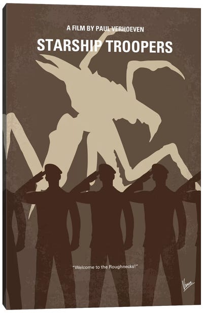 Starship Troopers Minimal Movie Poster Canvas Art Print