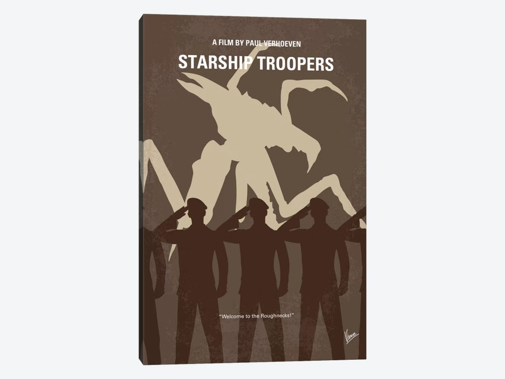 Starship Troopers Minimal Movie Poster by Chungkong 1-piece Art Print