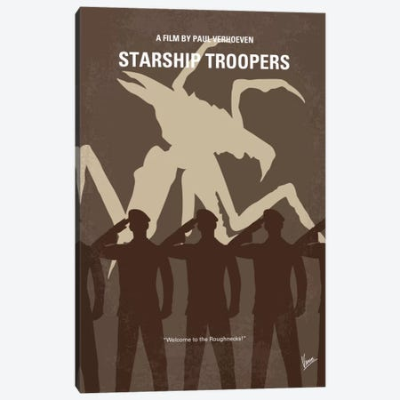 Starship Troopers Minimal Movie Poster Canvas Print #CKG432} by Chungkong Canvas Art