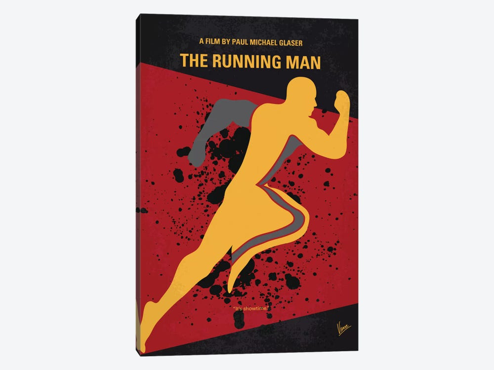 Running Man Minimal Movie Poster by Chungkong 1-piece Canvas Artwork