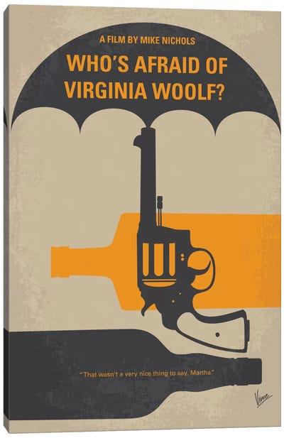 Who's Afraid Of Virginia Woolf? Minimal Movie Poster Canvas Print #CKG434