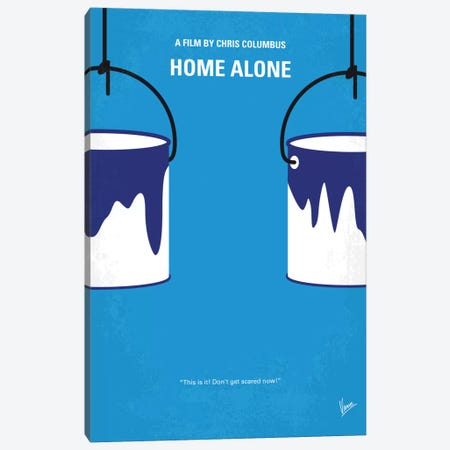 Home Alone Minimal Movie Poster Canvas Print #CKG435} by Chungkong Art Print