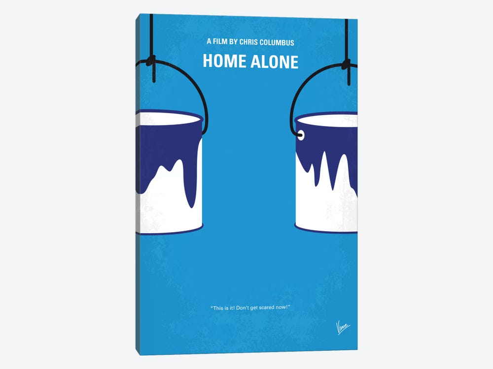 Home Alone Minimal Movie Poster by Chungkong 1-piece Canvas Artwork