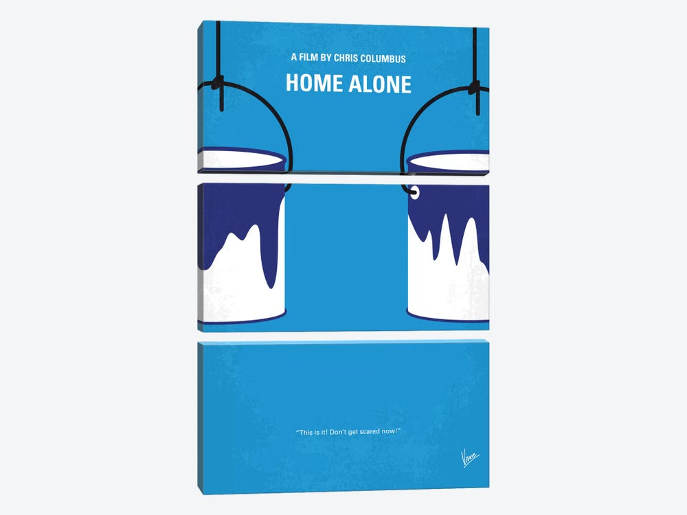 Home Alone Minimal Movie Poster 3-piece Canvas Art