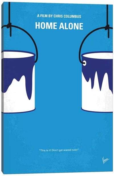 Home Alone Minimal Movie Poster Canvas Art Print