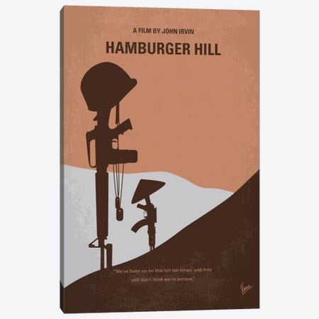 Hamburger Hill Minimal Movie Poster Canvas Print #CKG436} by Chungkong Canvas Art Print