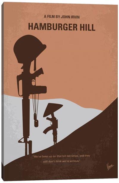 Hamburger Hill Minimal Movie Poster Canvas Print #CKG436