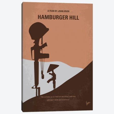Hamburger Hill Minimal Movie Poster Canvas Print #CKG436} by Chungkong Canvas Art Print