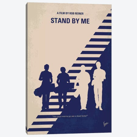 Stand By Me Minimal Movie Poster Canvas Print #CKG437} by Chungkong Canvas Art Print