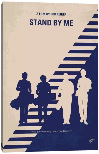 Stand By Me Minimal Movie Poster Canvas Print #CKG437