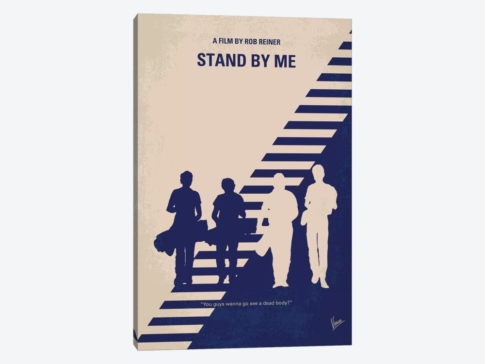 Stand By Me Minimal Movie Poster by Chungkong 1-piece Canvas Wall Art