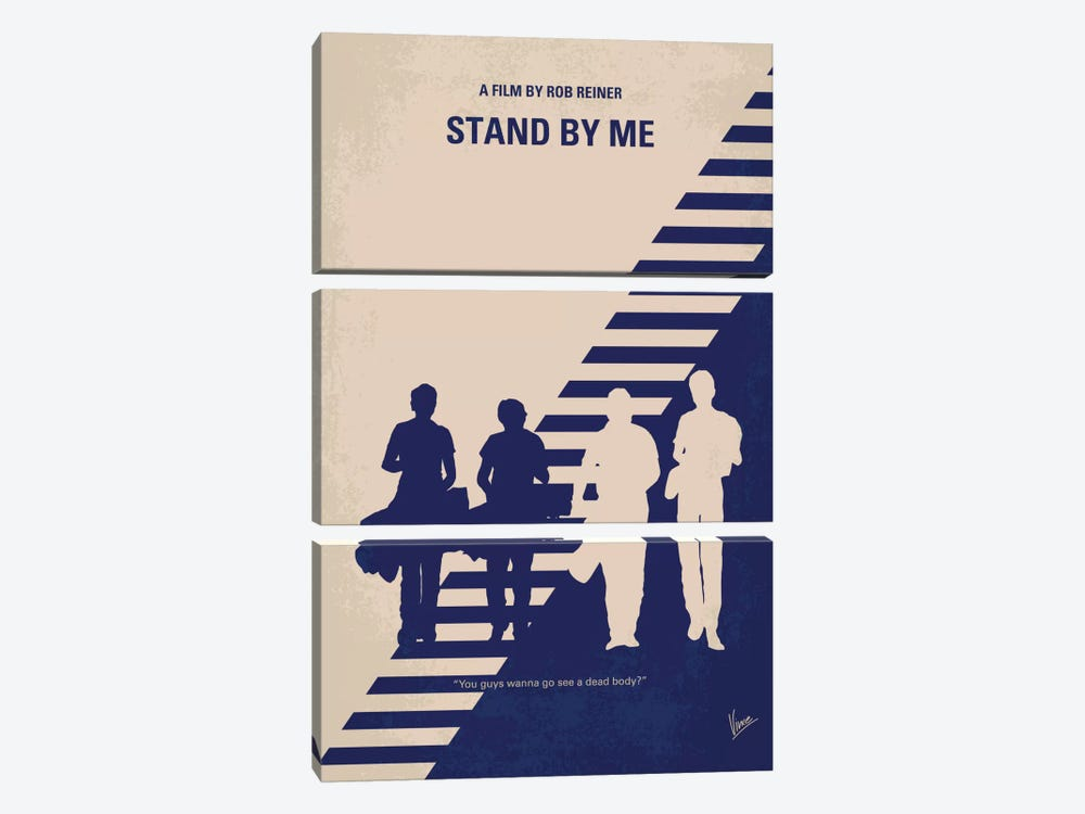 Stand By Me Minimal Movie Poster by Chungkong 3-piece Canvas Artwork