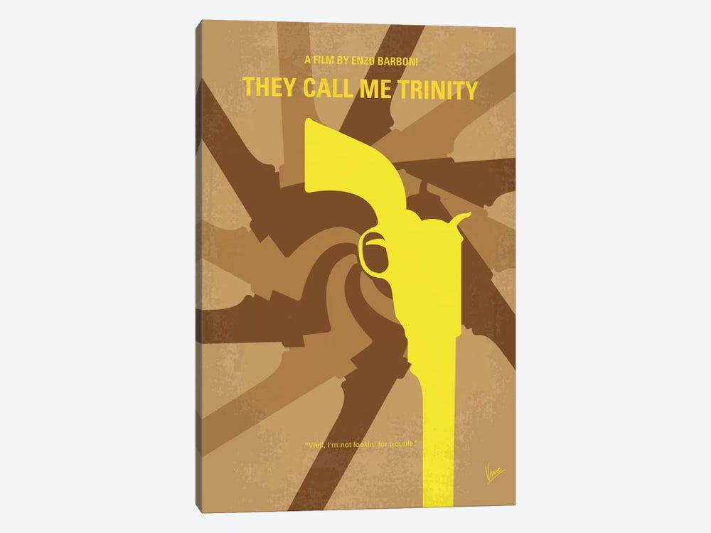They Call Me Trinity Minimal Movie Poster by Chungkong 1-piece Canvas Art