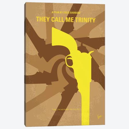 They Call Me Trinity Minimal Movie Poster Canvas Print #CKG439} by Chungkong Canvas Art