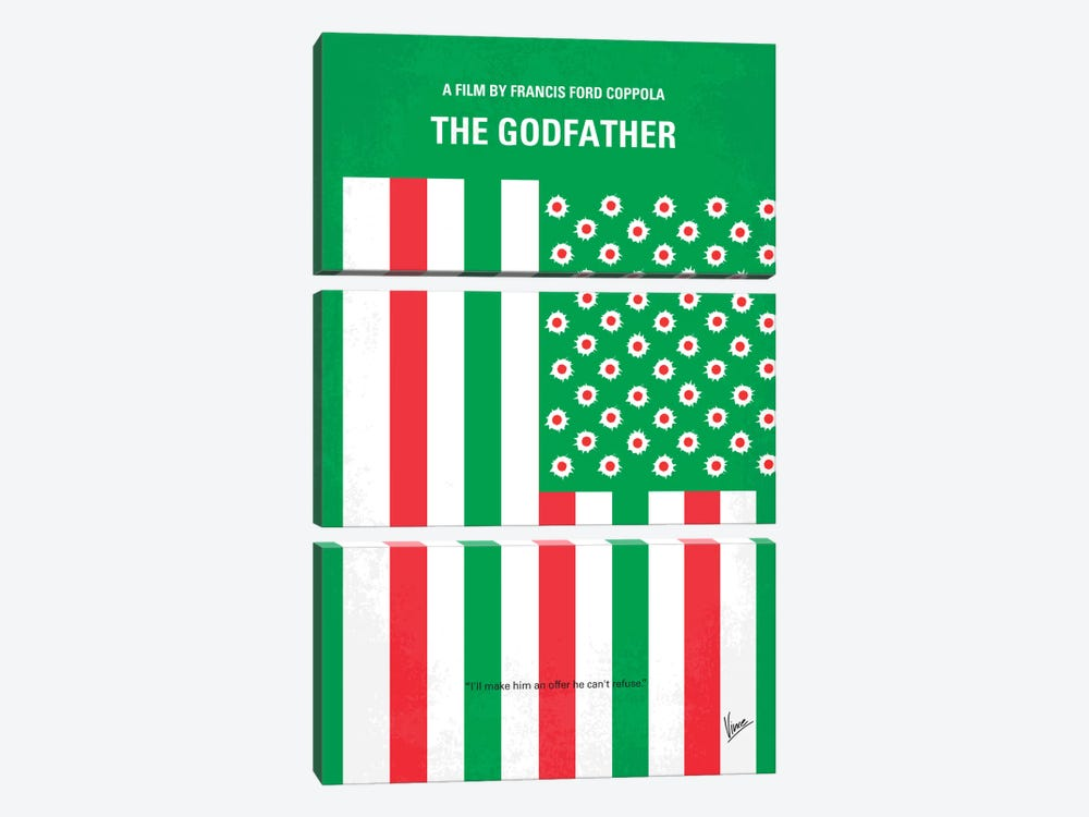 Godfather Minimal Movie Poster by Chungkong 3-piece Canvas Artwork
