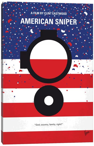 American Sniper Minimal Movie Poster Canvas Art Print