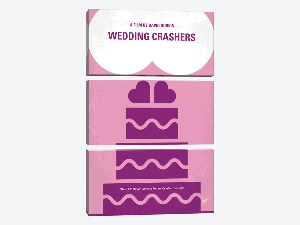 Wedding Crashers Minimal Movie Poster by Chungkong 3-piece Art Print