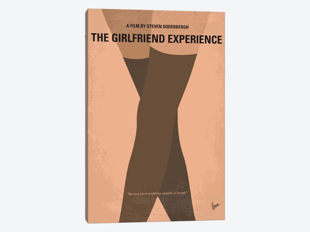 The Girlfriend Experience Minimal Movie Poster by Chungkong 1-piece Canvas Artwork